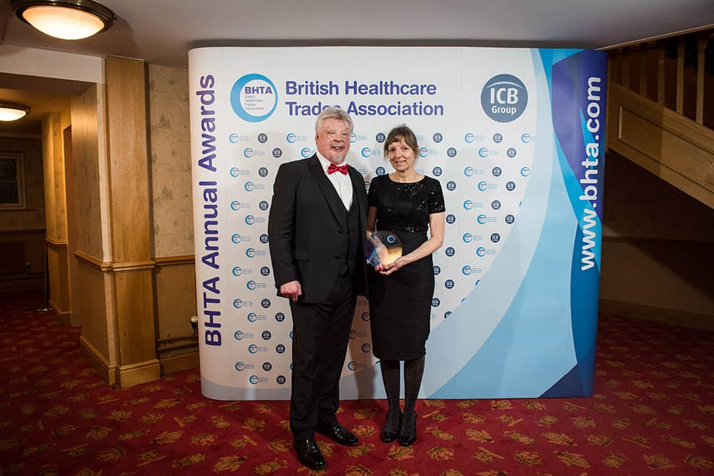 Simon Weston CBE with Gillian Green at the BHTA Annual Awards image