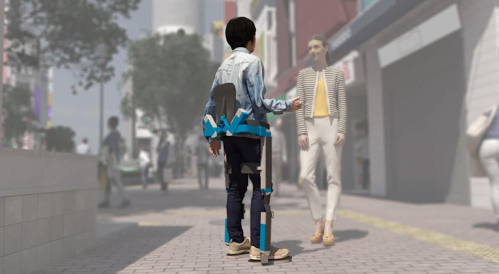 QUIX exoskeleton standing render