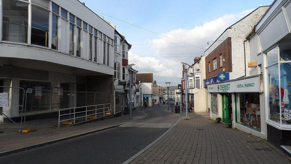Empty high street image