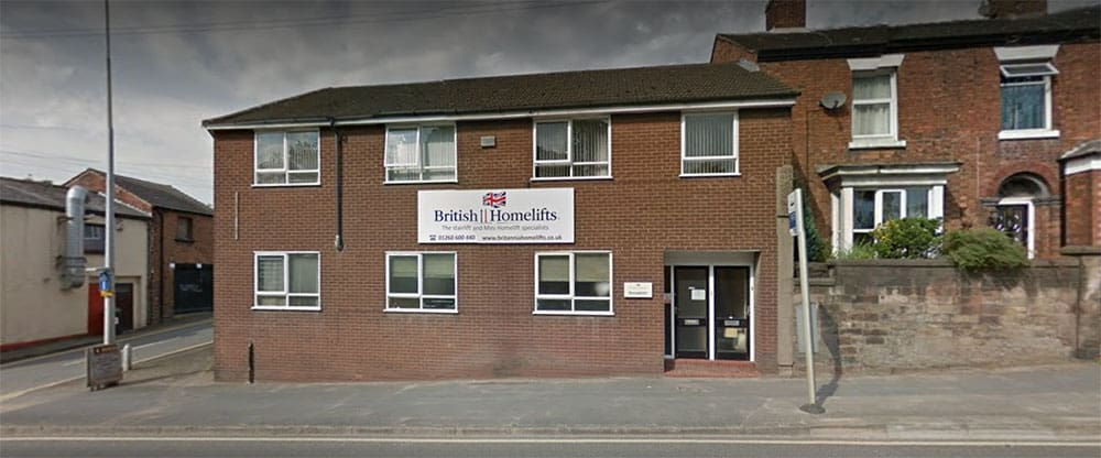 British Homelifts front, launched after Churchill Homecare ceased trading