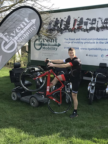 Dr Mark Warren's cycling challenge for Event Mobility image