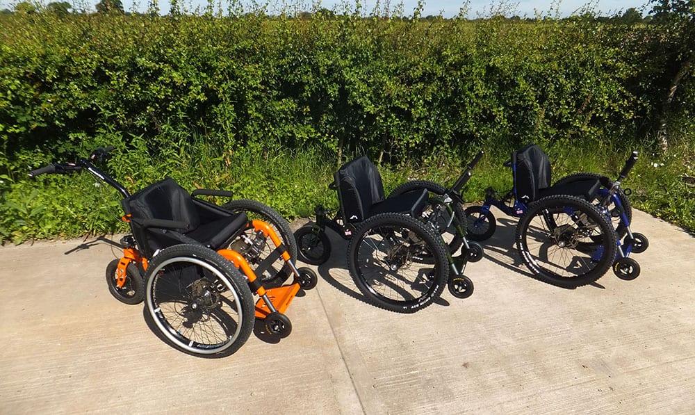 The Mountain Trike Company's current all-terrain wheelchair range image