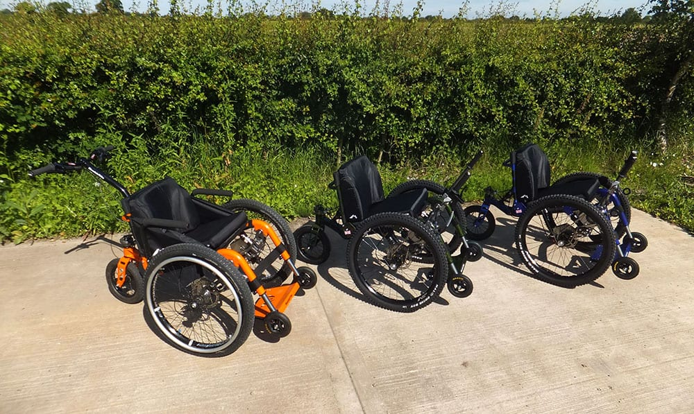 The Mountain Trike Company's current all-terrain wheelchair range image
