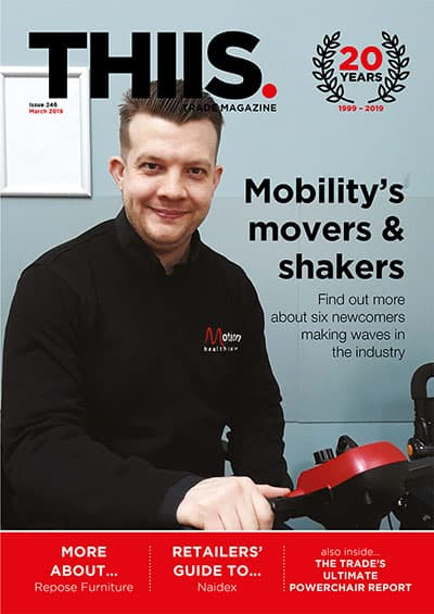THIIS March 2019 issue front cover mobility trade magazine