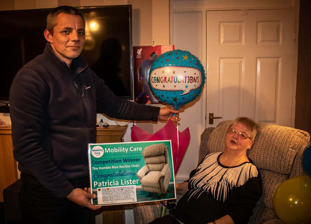 Patricia Lister Mobility Care Ltd January winner