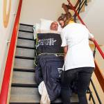 S-CAPEPOD bariatric patient down stairs in emergency