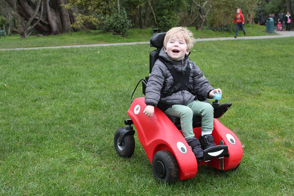 designability wizzybug child on powerchair loan