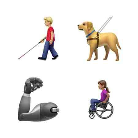 Apple disability emojis image