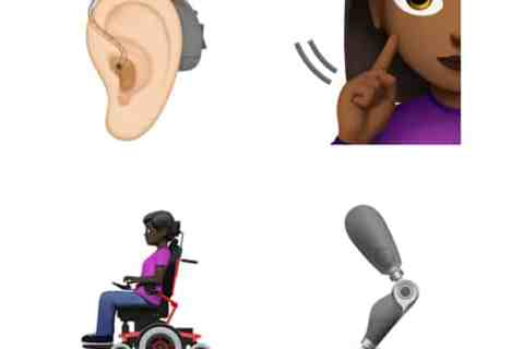 Apple disability emojis image