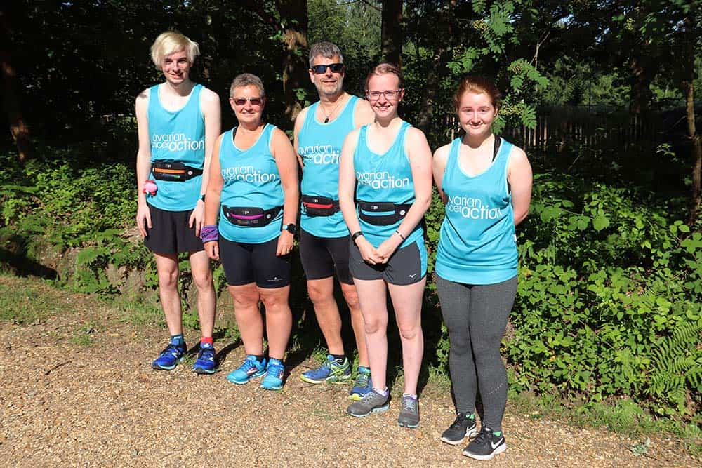 The team at Delichon taking part in park run