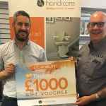 LTC Mobility and Handicare together with 1000 prize for 1100 stairlift