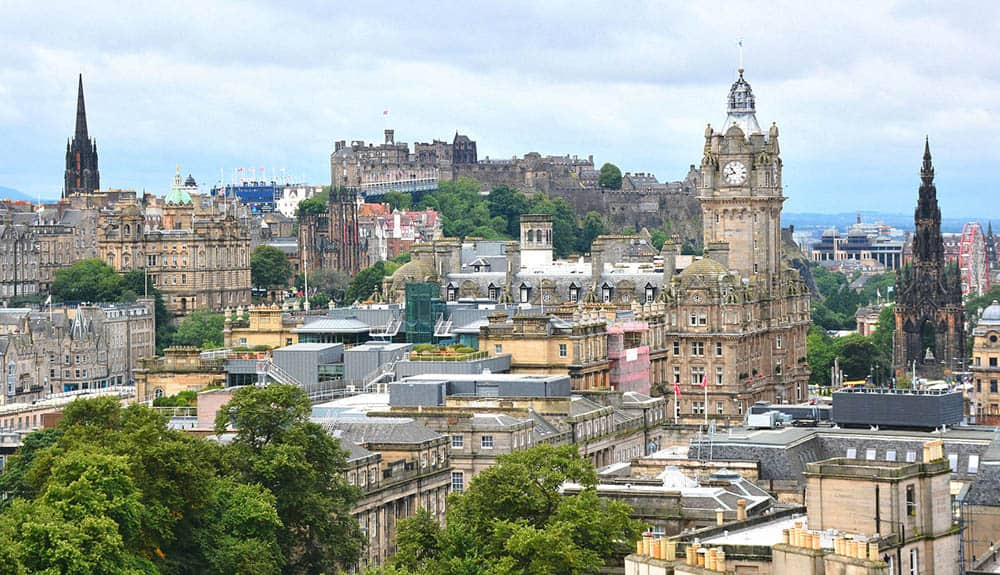 Scotland capital Edinburgh