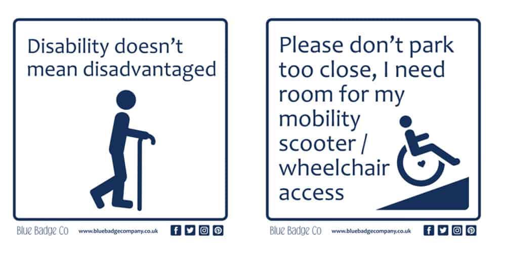 blue badge company new sticker range disability