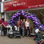 The Easy Living Mobility Hanley team standing outside the new store