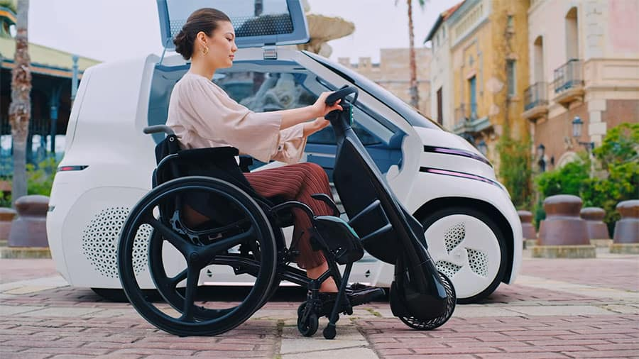 toyota power assist wheelchair lifestyle shot