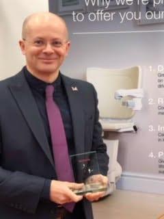 Richard Whitehouse Handicare Ops Director Award