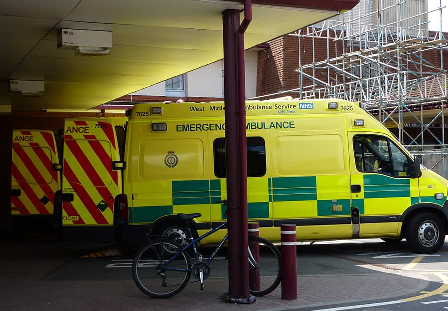 ambulance A&E NHS waiting times