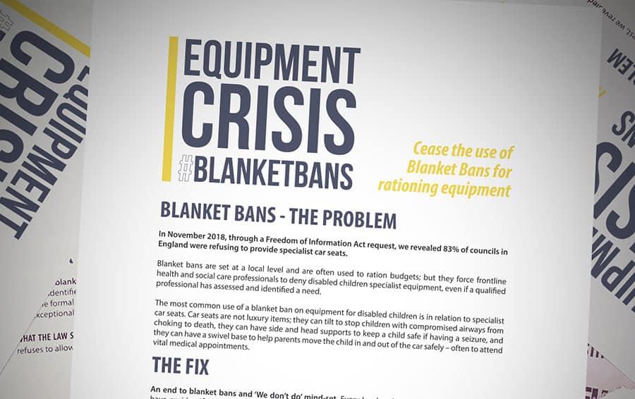 blanket ban newlife 300,000 disabled children