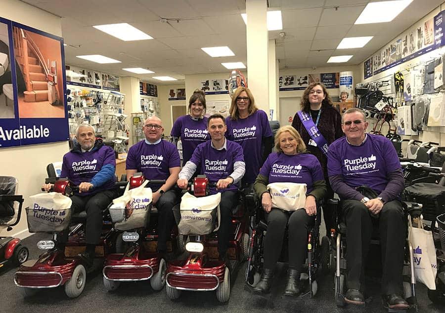 Warrington Disability Partnership Purple Tuesday