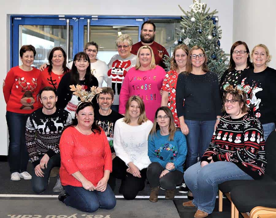 Invacare Christmas jumper day team