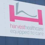 Harvest Healthcare sign now owned by Prism Medical UK