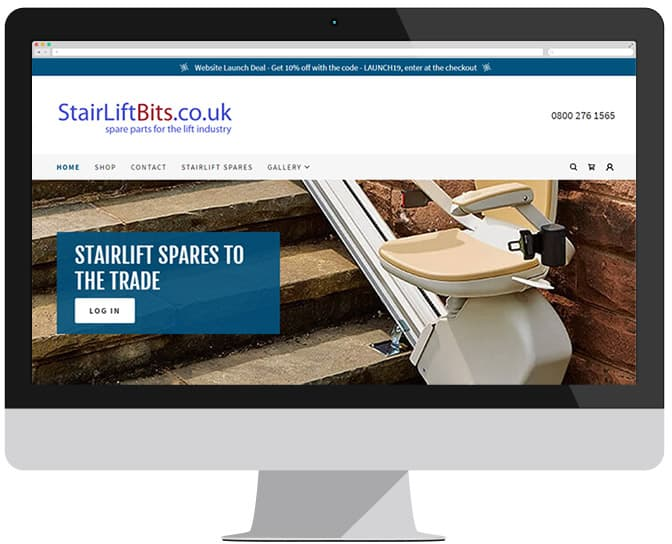 stairliftbits website for the mobility trade