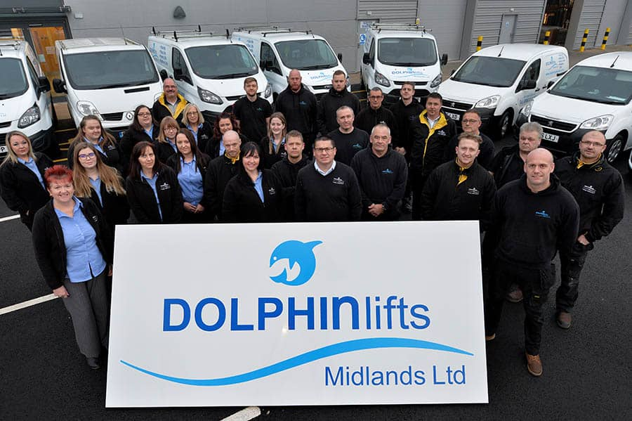 Dolphin Lifts Midlands team outside new facilities