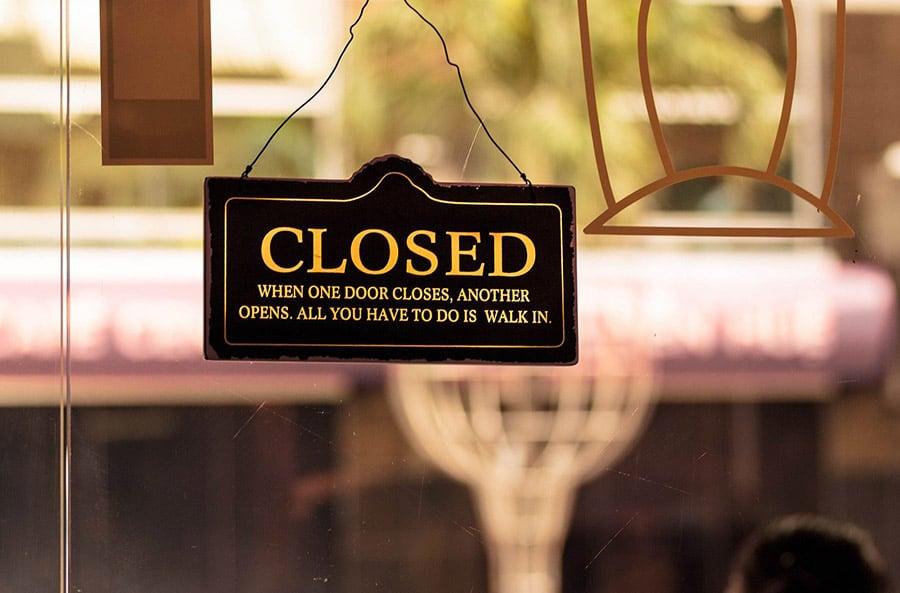 closed sign coronavirus deep dive
