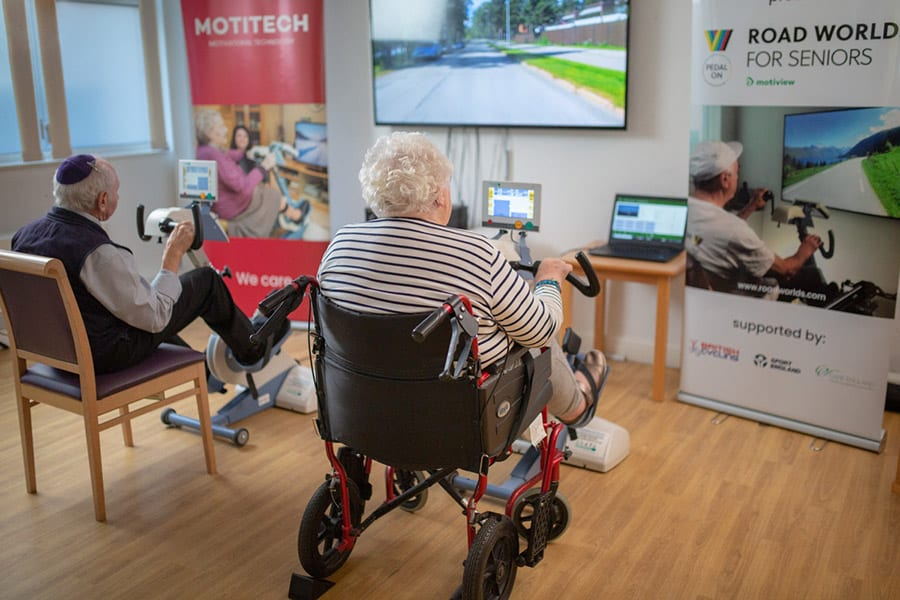 Motitech users cycling