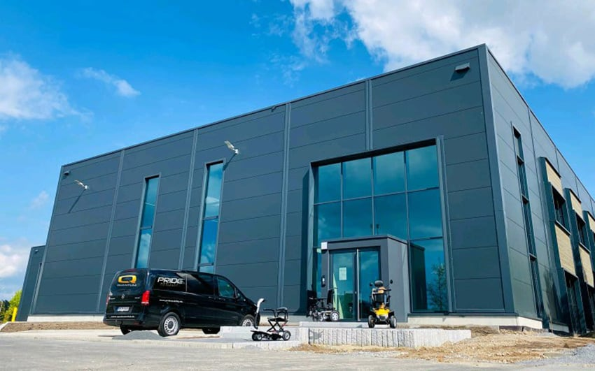 Pride Germany facility with van and mobility devices