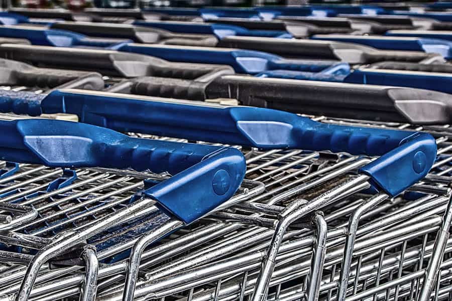 Shopping trolley supermarket