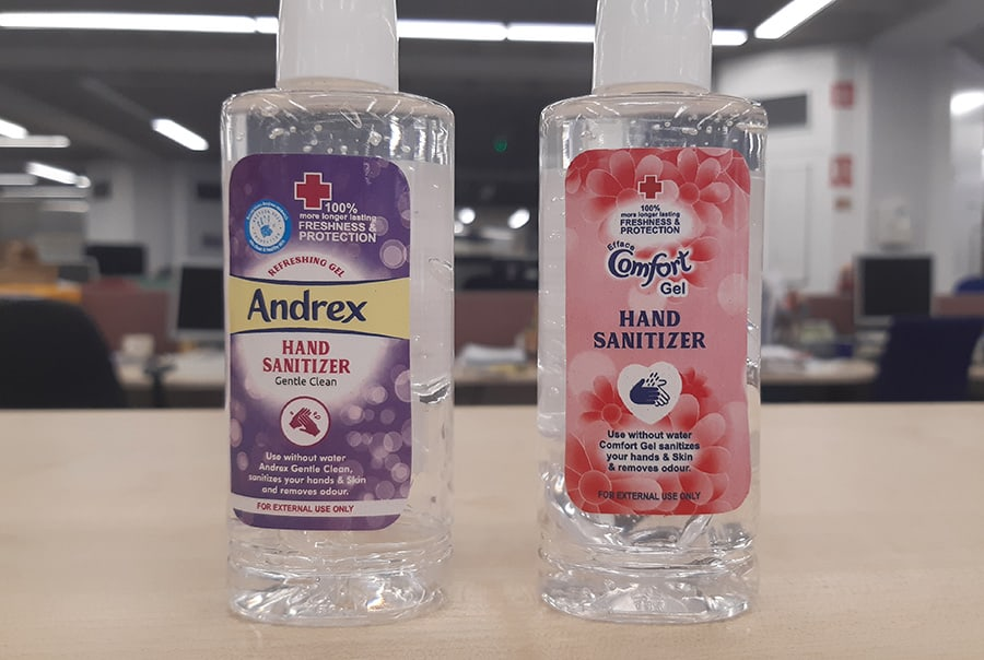 Counterfeit hand sanitisers trading standards