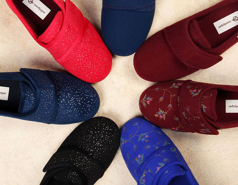 Sophie Ladies Extra Wide Slippers from Sandpiper image