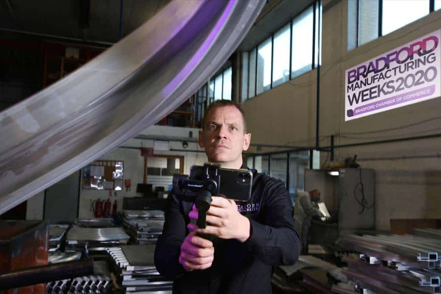 Acorn Stairlifts Manufacturing Manager Andrew Longthorne, whose video helped launch this year's online Bradford Manufacturing Weeks