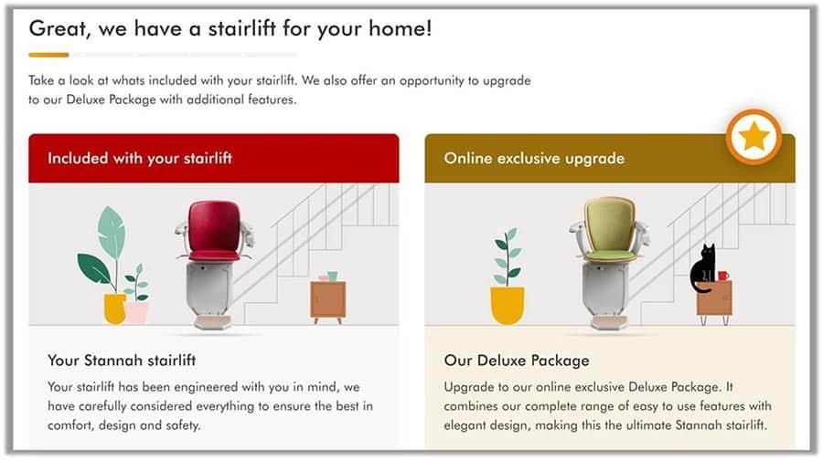 stananh stairlift online buy step 2