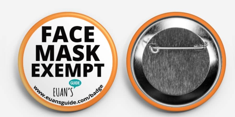 Face Mask Exempt badges