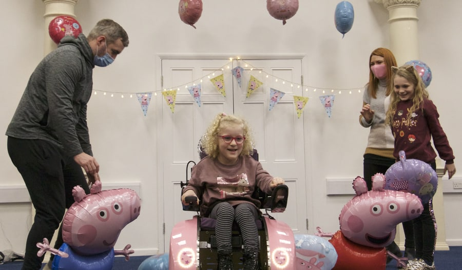 Sienna Richards with Peppa Pig chair