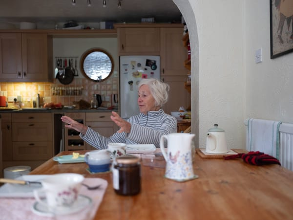 Elderly lady image