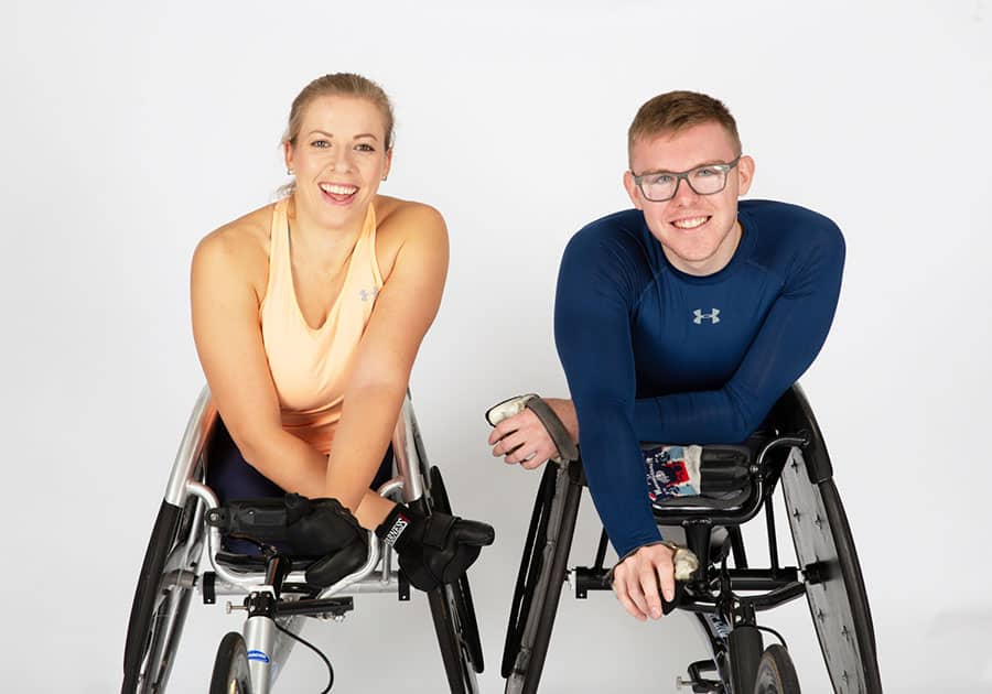 Hannah Cockroft MBE and Nathan Maguire image