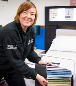 Lorna at Mobility Scotland