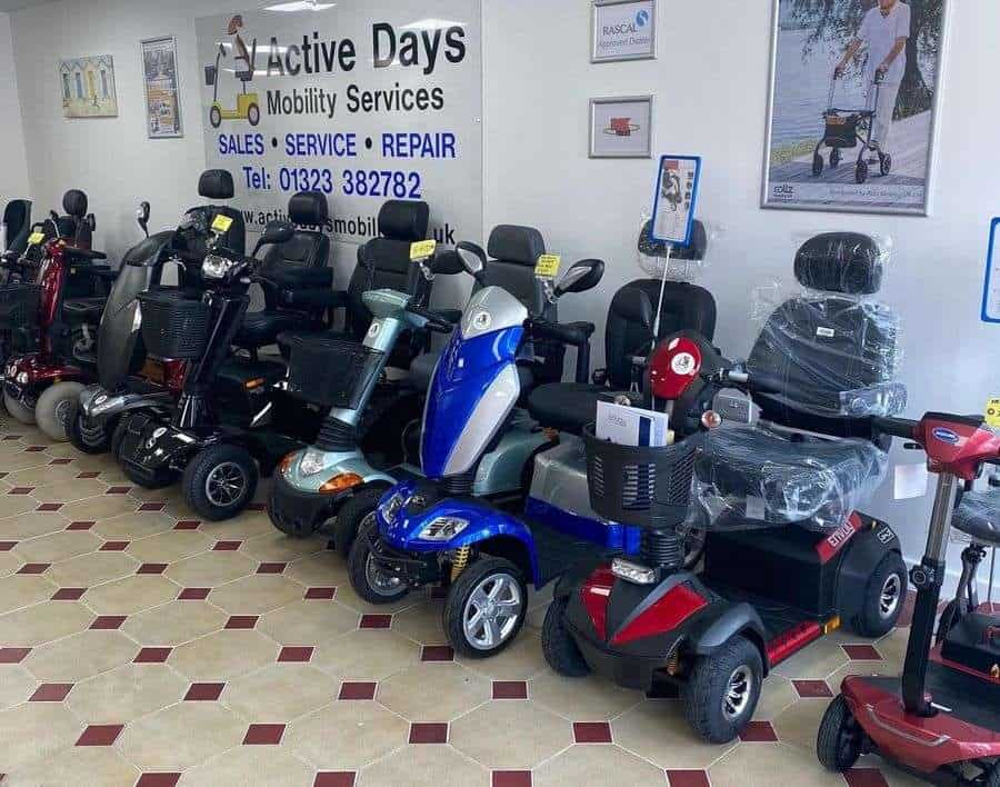 Scooters at Active Days Mobility