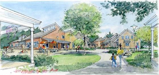 schets van een cohousing project