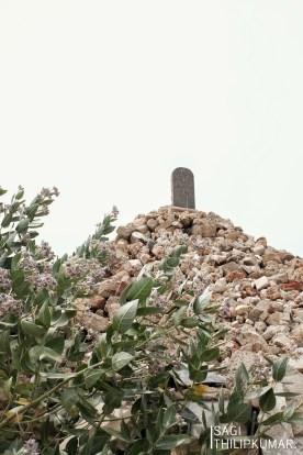rebuilt memorial in Kanagapuram Thuyilum Illam, Kilinochchi