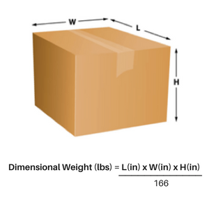 Dimensional Weight Shipping Fulfillment