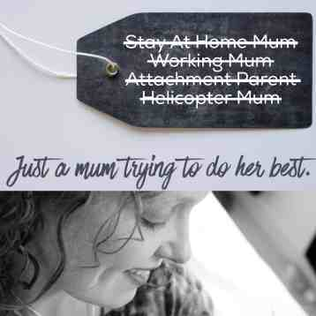 Why I'm fed up with Mummy Labels (and baby labels too for that matter!)