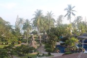 The view from our hotel, The Golden Sands Resort, Penang, Malaysia