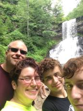 carroll-family-after-a-hike-to-the-cascades-in-giles-county-virginia