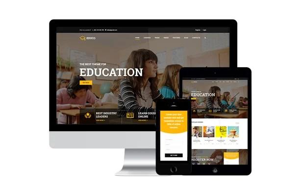 Mobile-Friendly Education WordPress Theme