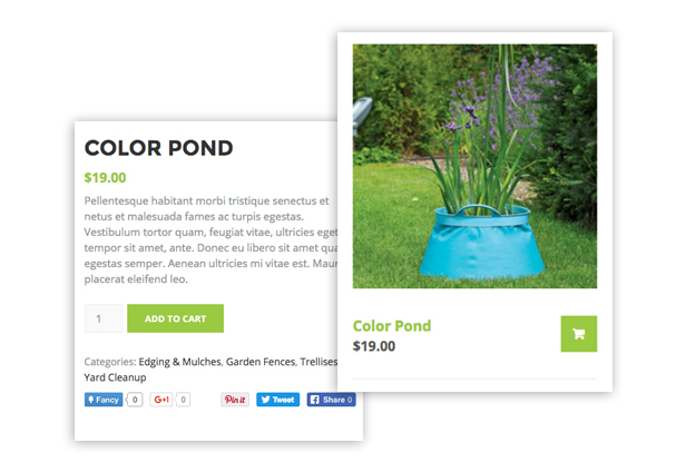 Woocomerce Support Landscaping WordPress theme