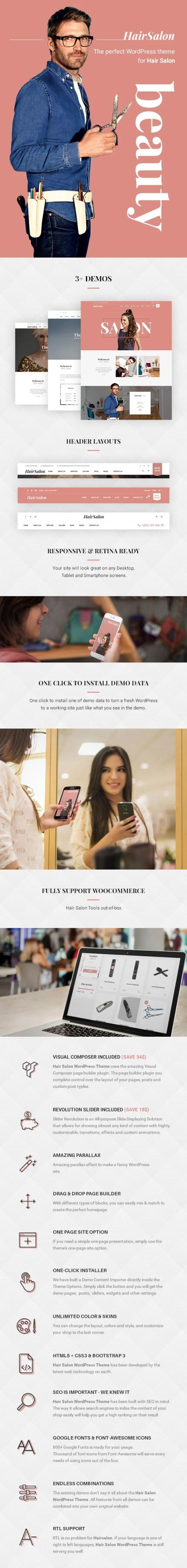 Hair Salon WordPress theme